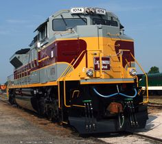 NS 1074(SD70ACe)   The Lackawanna Unit at the NS Heritage Event at Spencer
