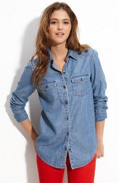 Rubbish® Chambray Shirt (Juniors) available at Nordstrom