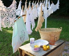 Doily's Removing The Smell From When You Buy Them From A Musty Antiques Store!! UGH YUCK!!Secrets to cleaning vintage linens at www.RetroRevivalBiz.blogspot.com