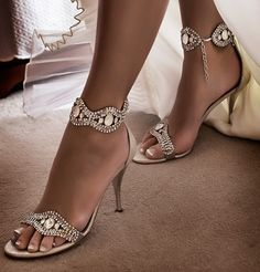 Glitz and glam wedding shoes