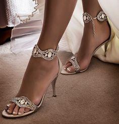 Glitz and glam wedding shoes