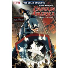 FCBD 2016: Captain America #1 Written by Dan Slott Nick Spencer Art by Javier Garron Jesus Saiz Cover by Jesus Saiz Steve Rogers is returning to comics this May and you can get your first taste on FREE COMIC BOOK DAY. This issue will get you caught up just in time for the release of Captain America: Steve Rogers #1 coming to comics later in May! Three Captain Americas fought shoulder-to-shoulder in AVENGERS: STANDOFF. Now one rises to take his place at the forefront of the Marvel Universe…