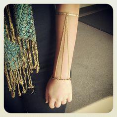Diana Ho Designs Gold Chain Arm Bracelet by Diana Ho Designs   https://www.etsy.com/listing/114359478/gold-chain-arm-bracelet