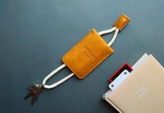 Leather key holder key chain key fold key ring leather key