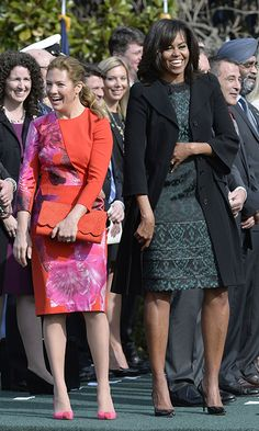 Michelle Obama recalls the time she broke royal protocol with the Queen   HELLO! CA