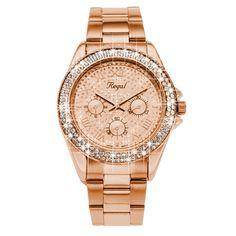 Regal horloge Glitter rose R1349R-622