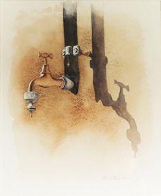 La goccia di watercolorsstories su Etsy,