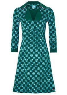 Tante Betsy kjole MIMI Geo Daisy Green / retro dress