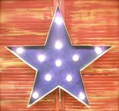 BIG Bright Star Vintage Lighted Marquee...24 by AmericanVintageInc, $129.00