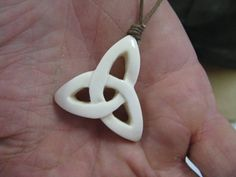Celtic knot bone carving
