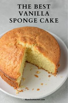 Classic easy vanilla sponge cake recipe made with everyday ingredients. This moist victoria sponge cake is quick and easy to make. Easy Sponge Cake Recipe, Sponge Cake Recipes, Easy Cake Recipes, Sweet Recipes, Simple Vanilla Sponge Cake Recipe, Best Vanilla Cake Recipe Moist, Vanilla Cake Recipes, Easy Vanilla Cake Recipe From Scratch, Delicious Recipes