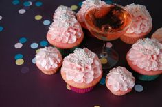 Pink Champagne Cupcakes Recipe from Uncle Beefy :)