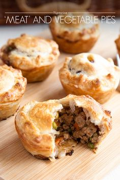Vegetarian 'Meat' and Vegetable Pies - AO Life
