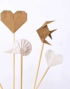 paper heart to stick into some kind of display. or flower pot. something cute.
