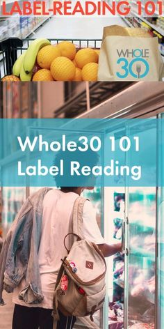 We're going to help you develop your label-reading skills so you can breeze through the grocery store with ease.  #JanuaryWhole30 #Whole30
