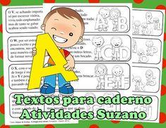 Textos para caderno com alfabeto EM PDF - Atividades Adriana