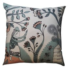 Lush Designs Bee Conjurer Cushion from www.illustratedliving.co.uk