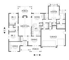 House Plan 22158A -The Jasper | houseplans.co   * with a slight tweak