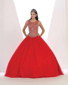7e5bb9accce Quinceanera Dress  LK72  mayqueen Red Quinceanera Dresses