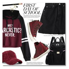 """First day of school"" by fshionme ❤ liked on Polyvore featuring Converse and BackToSchool"