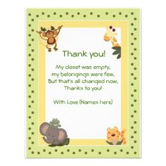 120 best baby jay bennett images on pinterest birthday party ideas baby saying thank you jungle safari animals baby shower thank you notes invitation from filmwisefo