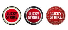 Rediseño del logotipo de Lucky Strike - indeskai design