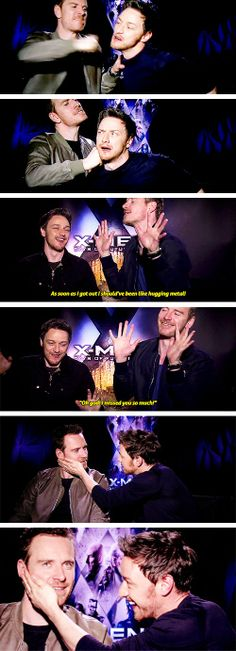 (gif set) James McAvoy and Michael Fassbender ||| X-Men: Days of Future Past