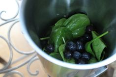 The Flat Belly Smoothie with blueberries