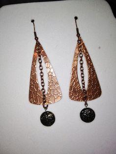 Copper Earrings by joytoyou41 on Etsy, $30.00