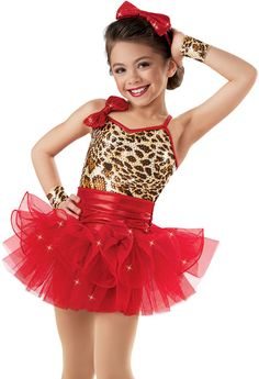 Sequin Cheetah Curly Hem Dress -Weissman Costumes( I wanna be like you)