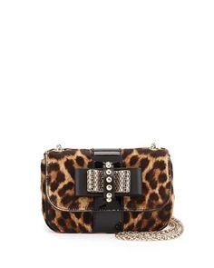 Sweet Charity Leopard-Print Calf Hair Mini Shoulder Bag by Christian Louboutin at Neiman Marcus.