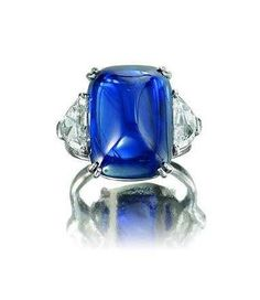 Lot 1176 - A sapphire and diamond ring, by Piranesi