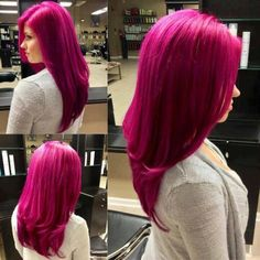 Red/pink hair