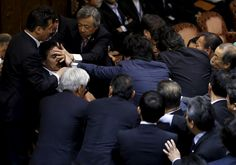 PM Abe Slightly Aroused By Diet Fracas Resembling War