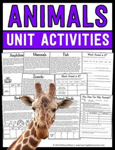 Animals Unit - This set contains 11 reading passages/activity sheets and 6 posters that will help enhance your unit on animal classifications.  Included pages are:- Animal Needs reading passage- Mammals reading passage- Birds reading passage- Amphibians reading passage- Reptiles reading passage- Fish reading passage- Insects reading passage- How Does Fur Help Animals? - science experiment- Which Animal is it? - fill in the blank- Which Animal is it? - use clues to identify animal group and…
