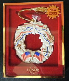Lenox Patriotic Ornament Home of the Brave 2003