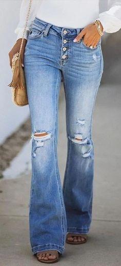 Denim Fashion, Look Fashion, Winter Fashion, Womens Fashion, Classy Fashion, 70s Fashion, Fashion Tips, Looks Style, My Style