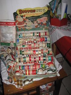 vintage store dispaly and scotch tape collection Christmas Past, Vintage Christmas, Christmas Gifts, Xmas, Holiday, Vintage Ads, Vintage Antiques, Vintage Style, Christmas Displays