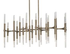 CH9642 - Turin - Chandelier Machine Bubbled-Infused Acrylic