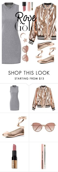 """""""Love Rose Gold"""" by susy-v ❤ liked on Polyvore featuring Sans Souci, Dorothy Perkins, Cutler and Gross, Bobbi Brown Cosmetics, Stila, Aamaya by Priyanka and susyset"""