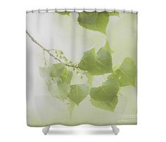 Dreamy Leaves Shower Curtain Branches Botanical by LucidMood