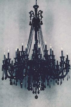 Black chandelier... a must have