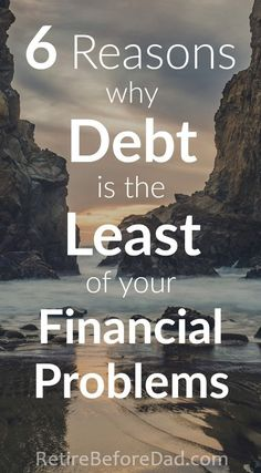 Debt should be considered the least of your financial problems. Time, bad income to geographic area ratio, and spending habits are much worse.