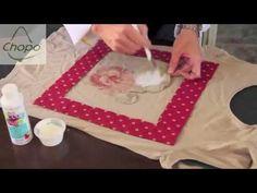 Hoy reciclamos una camiseta con retales de tela, puedes aprovechar esta técnica para tapar esa manchita de esa camiseta que tanto te gusta.