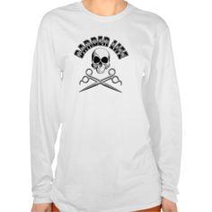 Barber Life: Skull and Scissors T Shirt, Hoodie Sweatshirt