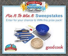 """Hey Challenge followers, have you entered our """"Real Summer. Real Flavor"""" Pin it to Win it Sweepstakes yet?  Follow the Pin it to Win it instructions to enter for your chance to win a BBQ Prize Pack from #AskGoodCook! Good Luck!"""