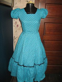 1950 cotton rockabilly dress by Linsvintageboutique on Etsy, $34.50