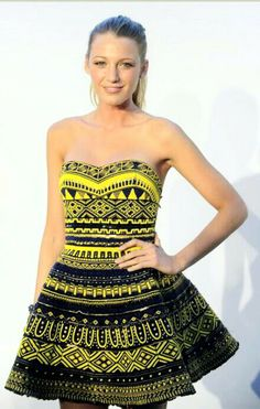 Summer Dress. African Style.