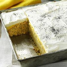 P.S. I Love You Cake Recipe -Growing up, there was always some scrumptious treat to eat at our house. The name my mom chose for this cake has a double meaning: P.S. for the type of cake (poppy seed) and for the love note to her family. —Sue Groetsch, La Crosse, Wisconsin