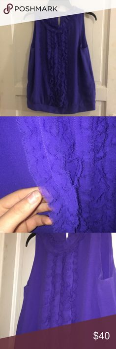 René lezard purple/blue blouse! This is a BEAUTIFUL, HIGH END blouse. This was originally purchased from Nordstrom for 200$this is a great deal. It was a hand me down from my aunt and I will never where it. Do not miss out on this deal, it has no stains and is in the condition it was in when bought, it has been worn only a hand full of times! It will fit a small or medium well! Rene Lezard Tops Blouses